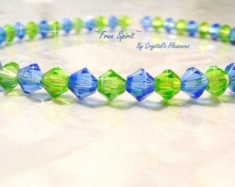 FREE SPIRIT Swarovski Crystal Bracelet  PICK Your Size