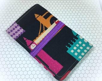 Family Passport Wallet Holds 4 Passports, London Print Passport Sleeve, Boarding Pass Sleeve, Passport Holder, Passport Cover, Travel Wallet