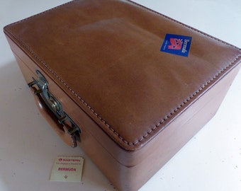 Vintage Train Case Luggage Cosmetic Shortrip Travel Mirror