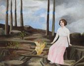 Limited Edition Print, 18 x 22 inches - Storm Brewing by Elizabeth Bauman