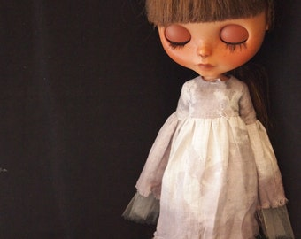 Ghost Girl Dress for Blythe Dolls