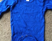 Royal blue long sleeve creeper Newborn Infant Baby onesie great for crafts