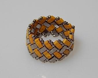 Basket Weave (Mustard) Ring