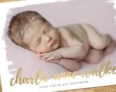 birth announcement, watercolor birth announcement, modern birth announcement, boy girl birth announcement, printable birth announcement