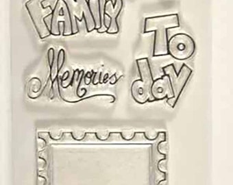 Stamped clear stamps