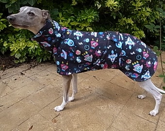Bespoke IG/Whippet/Greyhound Fleece lined Sweatshirt Coat with Chest Piece - Dog's in Space