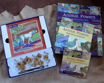 Animal Powers Meditation Kit with cards and pendants for spiritual craft projects DESTASH