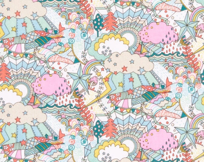 Land of Dreams Collection - Land of Dreams in Pink Multi by Liberty Art Fabrics - Tana Lawn Cotton Fabric