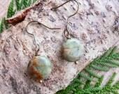 LICHEN & MOSS - woodland nature earrings