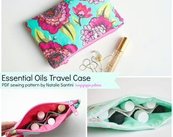 Essential Oils Cosmetic Case Travel Bag PDF Download sewing pattern