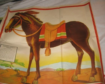 ORIGINAL Pin The Tail on The Donkey 1950 era Game