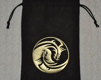Dungeons and Dragons tribal yin yang game dice bag