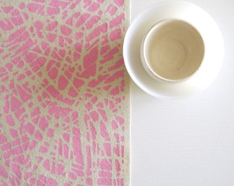 Tropic - screen printed fabric - chalky colours