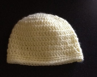 Crocheted Baby Hat / Yellow Baby Hat / Baby Acessory / Free US Shipping / Bootsandbelle