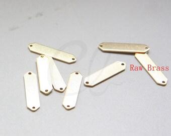 40pcs Raw Brass Triangle Link - Geometry - Arrow 21x5mm (3075C-M-318)