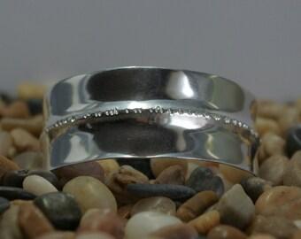 Silver Cuff Bracelet Fine Silver Fold Form