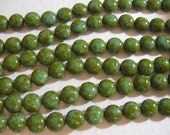 Candy Beads, 8mm 2 Hole beads designed to use with other Czech 2 hole beads - Lt Blue Travertine- 20 beads