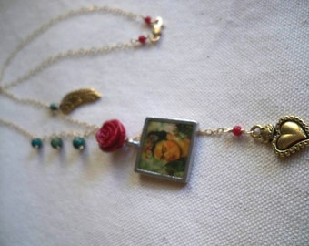Dreaming with Frida golden necklace