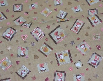 Vintage country style print fat quarter nc34