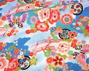 Kimono print Japanese fabric Half meter