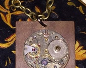 Steampunk Inspired Vintage Watch Movement Pendant Necklace Unisex