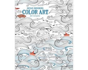 Ocean Wonders Adult Coloring Book Paperback Stress Relief Coloring Book Color Art Designs