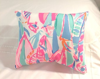 New Pillow made with Lilly Pulitzer Out To Sea fabric