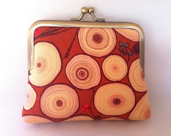 Rusty Tree Rings Coin Purse