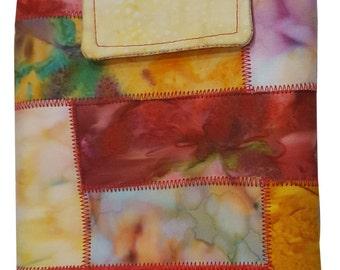 Nook or Kindle Fire Ipad Mini Sleeve in Warm Toned Batik Fabrics Back to School