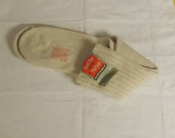 Vintage light ecru natural color Sport Age Socks Portage wool blend socks 10 1/2-11