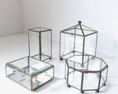 classic geometric brass jewelry box | shadow box