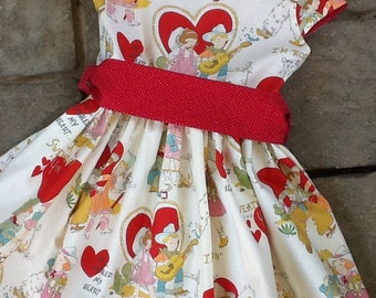 Cowboy Love Valentine Girls Dress etsykids team