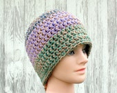 Crochet Beanie Hat - Two Tone Skull Cap in a Variety of Colors - Hats by Mike ©