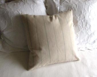 Rustic Woven ecru/beige in spa stripes pillow cover 13x26 18x18 20x20 22x22 24x24 26x26