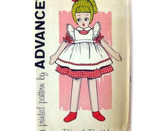 1960s Betina the Beautiful Stuffed Doll Pattern / Advance 9602 / Mid Century Craft Sewing Pattern Rag Doll  UNCUT FF
