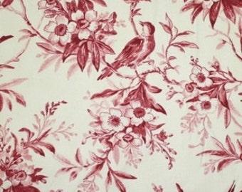 Mayfair Garden of Enchantment Maroon Birds Fabric