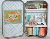 Tiny Tin Sewing Room ~ Cottage Chic