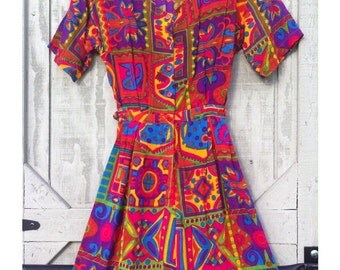 Vintage India Colorful Shorts Romper