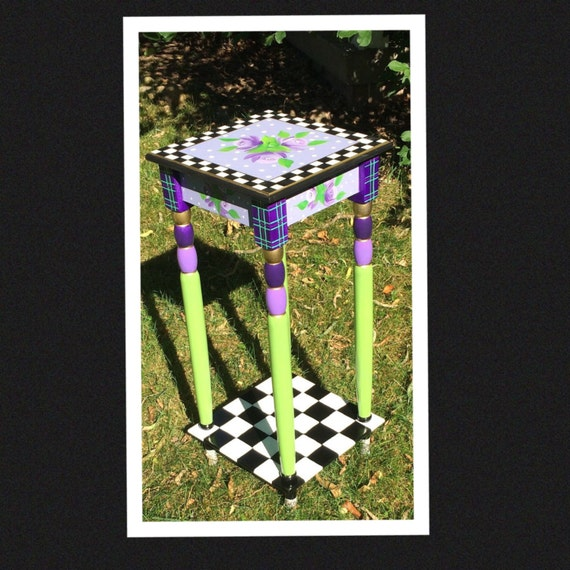 Whimsical Painted Furniture, Whimsical Painted table // Whimsical Painted Furniture // Custom Painted Table