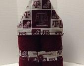 University Hooded Towel -- Texas Aggies TAMU on Maroon