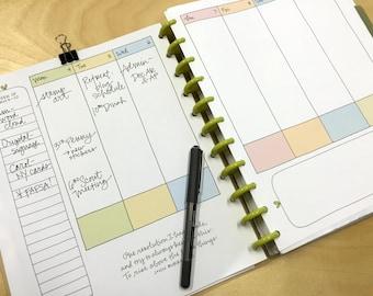 Lettergirl Planner:  Dated, Handwritten, Instant Download