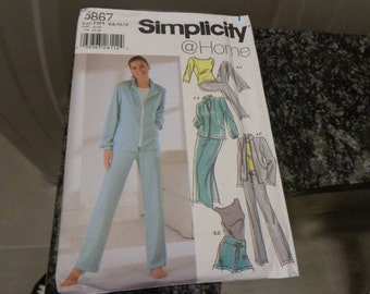 Simplicity 5867 misses' separates pattern