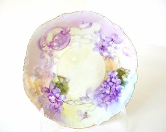 Vintage / Antique Hand Painted Purple Violet Saucer Rosenthal RC Versailles Bavaria