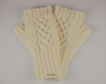 Fingerless Gloves, Wristers, Wrist Warmers, Arm Warmers, Butter