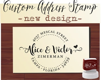 RETURN ADDRESS STAMP - Personalized Self Inking Wedding Stationery Stamper - Style 1162N