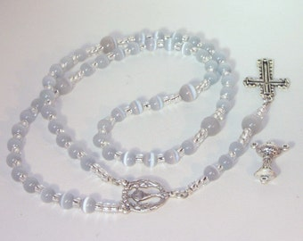 Cats Eye Rosary - Confirmation Rosary - Made to Order - Choice of Colors