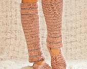 Instant download - Crochet PATTERN (pdf file) - Basic Slippers with Leg Warmers