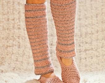 Crochet PATTERN - Basic Slippers with Leg Warmers