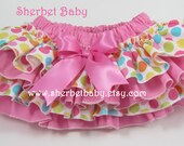 4 Ruffle Classic Style Style Sassy Pants Ruffle Diaper Cover Pink & Polka Dots