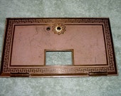 POST OFFICE BOX Door antique cast metal hinged greek key pattern letters